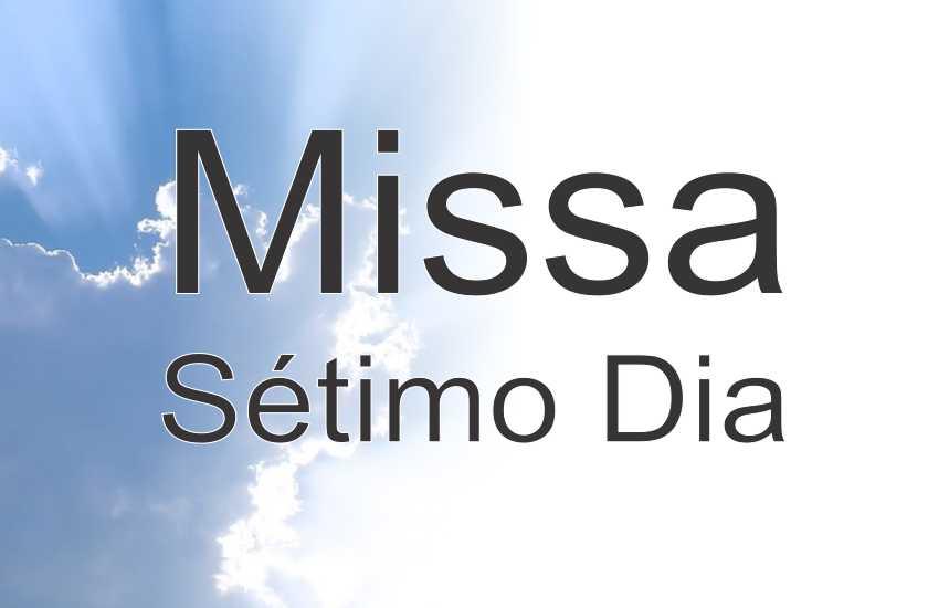 Missa de 7º dia de Madeleide Monteiro.