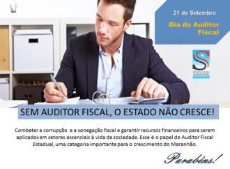 Sindaftema parabeniza o fisco maranhense pelo Dia do Auditor Fiscal.