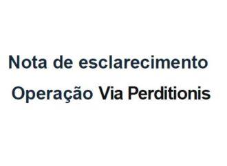 Sindaftema e Sintaf emitem nota de esclarecimento sobre Operação Via Perditionis.