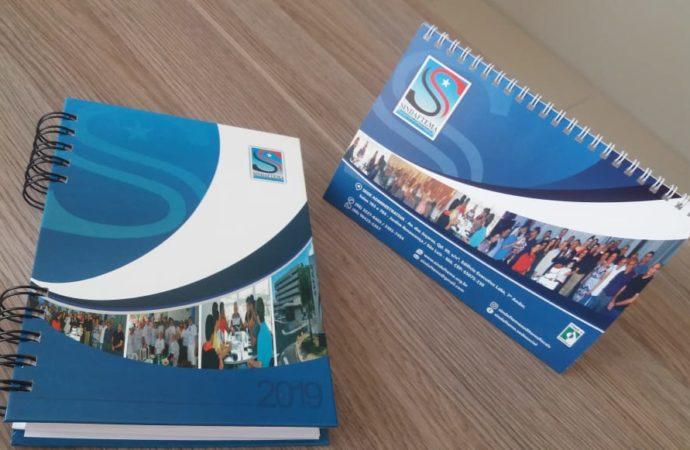 Sindaftema inicia entrega de kit personalizado com agenda e calendário de 2019 para filiados.