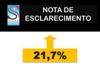 NOTA DE ESCLARECIMENTO SOBRE OS 21,7%