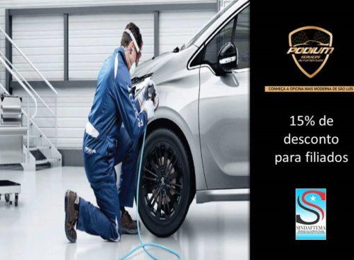 Podium Serviços Automotivos é a nova parceira do Sindaftema