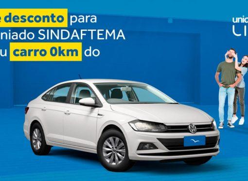 Sindaftema firma parceria com a Unidas aluguel de carros.